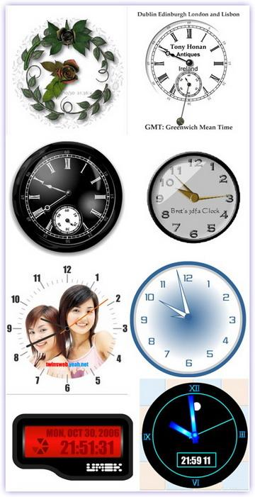 165 flash clocks для вашего сайта